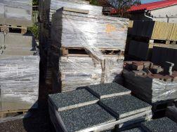 dlažba betonová vymývaná, šedá drť, 40x40 / 60x40 cm
