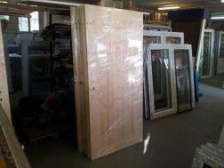 palubkové dveře, zatepleno 1cm polystyren, plné