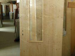 palubkové dveře, zatepleno 1cm polystyren, průhled