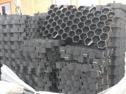 dlažba plast zatravňovací černá