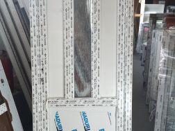 plastové dveře 95x205, průhled, bílá/bílá