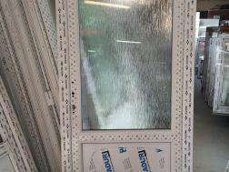 plastové dveře 95x205, 2/3 sklo, bílá/bílá