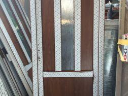 plastové dveře 95x205, průhled, zlatý dub/bílá