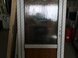 plastové dveře 95x205, 2/3 sklo, zlatý dub/bílá
